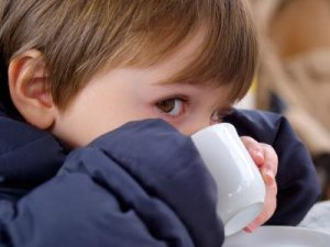 COFFEE . CHILD DRINKING